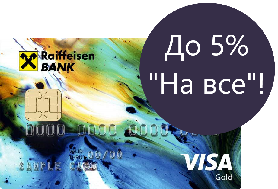 """Райффайзенбанк, """"#ВСЕСРАЗУ"""", кредитная карта с кэшбэком"""